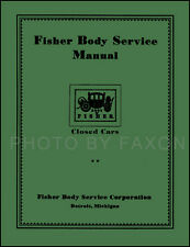 Chevrolet Body Repair Manual 1926 1927 1928 1929 1930 1931 1932 Chevy Car Shop