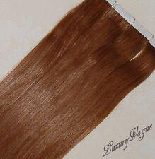 20 Stücke 100% Remy Hair Echthaar Haarverlängerung Tape-in Extensions #30