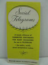 Vintage Western Union Telegraph Company Social Telegrams Pamphlet Collectible