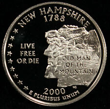 2000-S State Quarter New Hampshire Gem Proof DCAM CN-Clad Coin Uncirculated