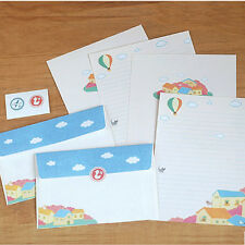Cute Dream of Cats Letter set 4sh Writing Stationery paper 2sh Envelope Sticker