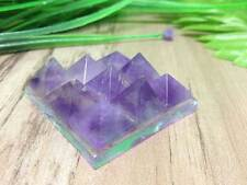 Amethyst 9 Pyramid Plate Power Protection Healing Feng Shui Energy Success