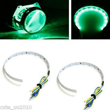 Green 12 LED Demon Eyes High Power 12V For Parking Light, Daytime Running Lights