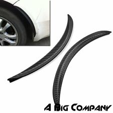2X CAR CARBON FIBER STYLE FENDER FLARE LID PROTECTER GUARD WHEEL BODY DECORATION