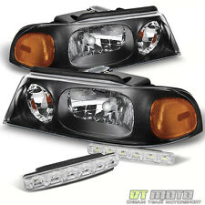 Blk For 98-02 Lincoln Navigator Replacement Amber Headlights+Smd Bumper Fog Lamp