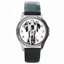 Dalmatian 101 Spot Dog Dalmatians Accessory Leather Watch New!