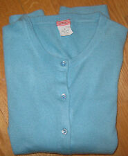 J. Crew EUC S Featherweight 100% Cashmere Cardigan Sweater Lt.Robin's Egg Blue