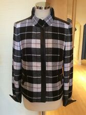 Gerry Weber Jacket Size 10 BNWT Black Winter White Brown Check RRP £170 Now £77