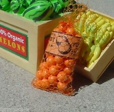 Sack of Florida Oranges Miniature 1/24 Scale G Diorama