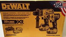 DeWALT DCK299M2 Brushless Hammerdrill & 3 sp Impact Driver Combo Kit New Sealed