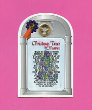 """""""Christmas Trees In Heaven"""" Poem Verse Card w/ Angel Penny - sku# 707"""
