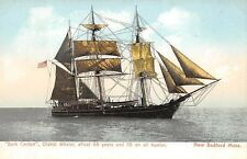 "NEW BEDFORD, MA ~ BARK ""CANTON"" AT SEA, OLDEST WHALING SHIP ~ c. 1903-06"