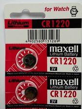 2 NEW MAXELL CR1220 ECR1220 DL1220 3V BATTERY Expiration Year: 12-2026 TM