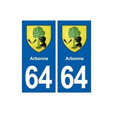64 Arbonne blason autocollant plaque stickers ville droits