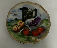 Hand Painted Fruit Plate by M. Hashimura Japan Collector Plate