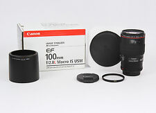 Canon EF 100mm 100 mm F/2.8 L F2.8 F/2.8L IS USM (UB**) B+W UV filter BEAUTIFUL