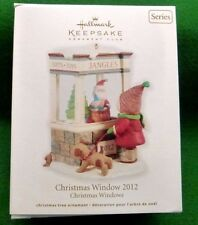 NEW Hallmark CHRISTMAS WINDOW 2012 Ornament Club 10th Christmas Window Gift Shop