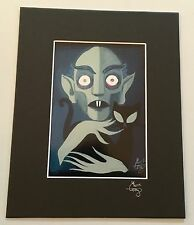 EL GATO GOMEZ RETRO NOSFERATU VAMPIRE CLASSIC HORROR MONSTER GEEK POP ART PRINT