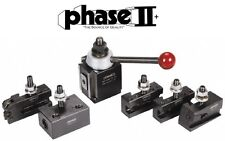 "Phase II Tool Post Set 5 Holders Piston AXA 9 To 12"" Lathe Swing"