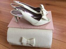 Nuevo-Jacques Vert Zapatos y bolso de mano, Talla 8, verde claro con arco, ocasión