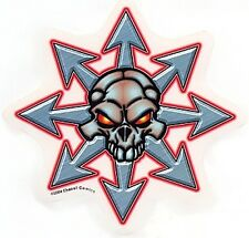 RARE CHAOS Comics! SILVER SKULL WITH GLOWING EYES STICKER/VINYL DECAL