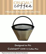 Washable Coffee Filter #4 Cone Cuisinart CHW-12 Coffee Plus 12-Cup Coffee Maker