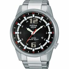 BRAND NEW PULSAR GENTS STAINLESS STEEL SOLAR WATCH (PX3085X1)