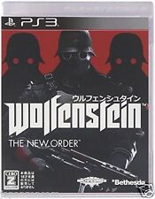 Used PS3 Wolfenstein the new order SONY PLAYSTATION 3 JAPAN JAPANESE IMPORT