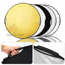 """5-IN-1 43"""" 110CM Photo Photography Light Mulit Disc Collapsible Reflector&Grip"""