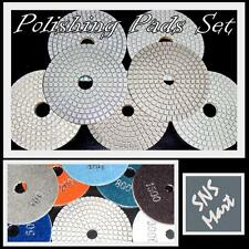 Diamond Polishing Pads 4 inch Wet/Dry 10 Pcs Set Granite Marble Concrete Stone