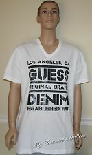 New Guess Mens Tee T-shirt Top White, Size XL, NWT