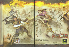 Jade Empire Xbox 2005 Double Page Magazine Advert #1763
