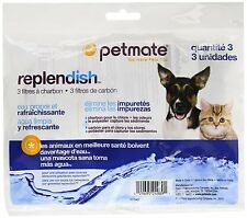 3-Pack Petmate Replendish Charcoal Replacement Filters Drink Water Dog Cat Pet