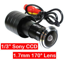 "Mini Door Eye Camera Peephole Camera 1/3"" Color CCD CCTV Cam Kit 170° Wide Angle"
