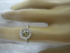 STUNNING ESTATE 14 KT GOLD 1.34 CTW FANCY CHAMPAGNE BROWN DIAMOND RING !!!!!