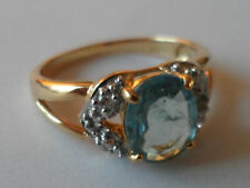 18K PARAIBA TOURMALINE & DIAMOND RING 1.31CT COPPER BEARING ULTRA RARE GEM STONE