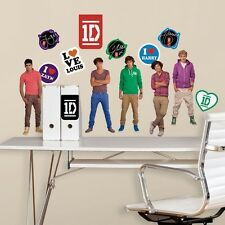 NWT One Direction 27 BIG DECALS WALL STICKERS PEEL Niall Liam Zyan Harry Louis