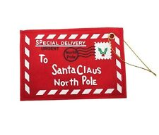 Letter to Santa Red Felt Envelope Christmas North Pole