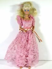 DRESSED BARBIE DOLL IN PINK WEDDING PARTY DRESS