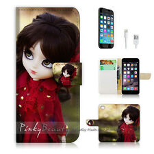 "iPhone 6 (4.7"") Print Flip Wallet Case Cover! Cute Cartoon Girl P0178"