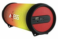 AXESS SPBL1043RD Mini Portable Hi-Fi Bluetooth Speaker with Dancing LED Lights