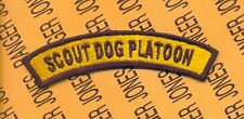 US Army 1st Cavalry Division SCOUT DOG PLATOON 4 inch tab patch