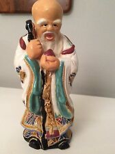 "Antique 11"" Chinese God of Longivity Porcelain Figure - Estate Find"