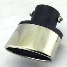 Universal Stainless Steel Curved Exhaust Muffler Tail Pipe Tip Tailpipe