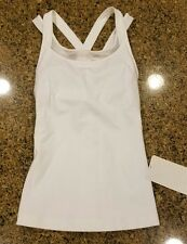 NWT Lululemon Mesh Compassion Tank Top - White - Sz 4