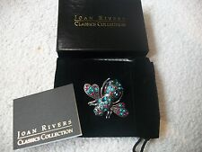 JOAN RIVERS Amazing BEE Pin Brooch Faux Turquoise & Multi Color Crystals Free Sh