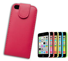 FLIP COVER COMPATIBILE IPHONE 5 CONCHIGLIA CALAMITA PELLE SINTETICA ROSA FUCSIA