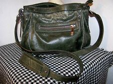 KOOBA Forest Green Cross Body Leather Bag (Distressed)