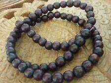 74 pce Dark Wood Round Beads 6mm Tribal Jewellery Craft