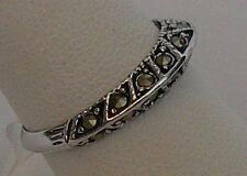 Park Lane Retired Hostess Marcasite Domed Band Ring Pretty!  Size 8
